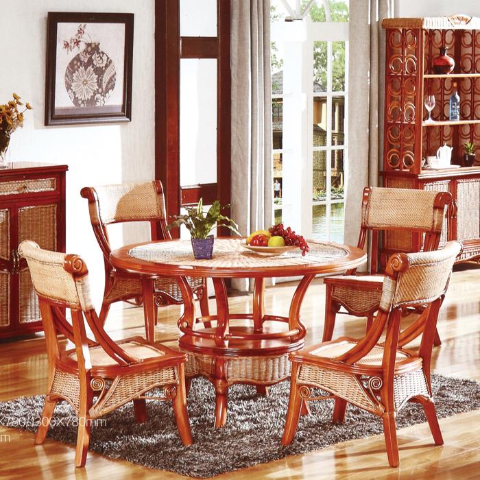 藤艺餐桌椅
