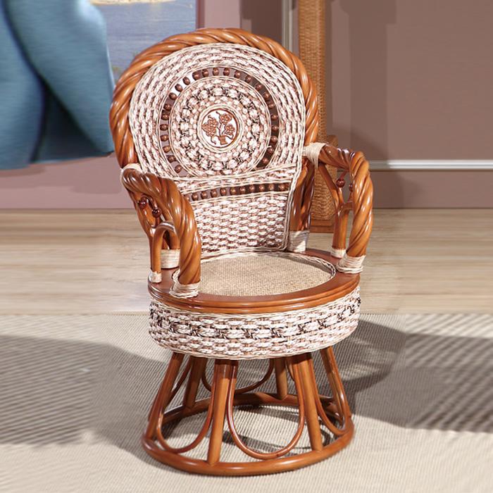 藤艺扭骨花盘椅
