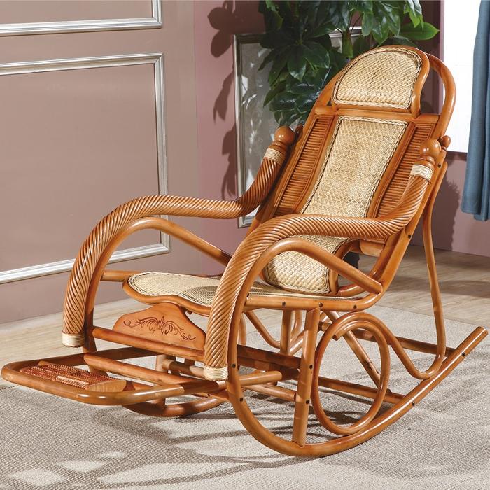 藤艺扭丝摇椅