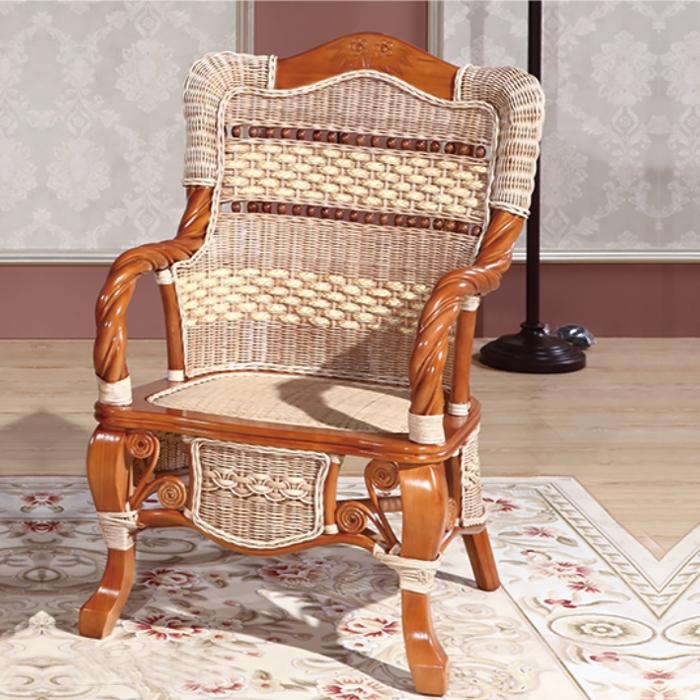 藤艺金丝椅