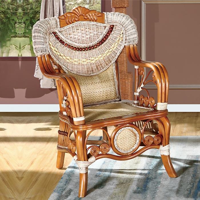藤艺玉石椅
