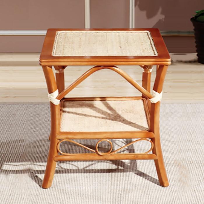 藤艺木方桌
