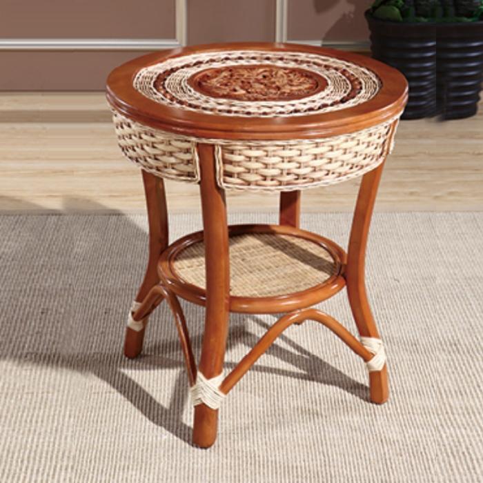 藤艺编织桌子