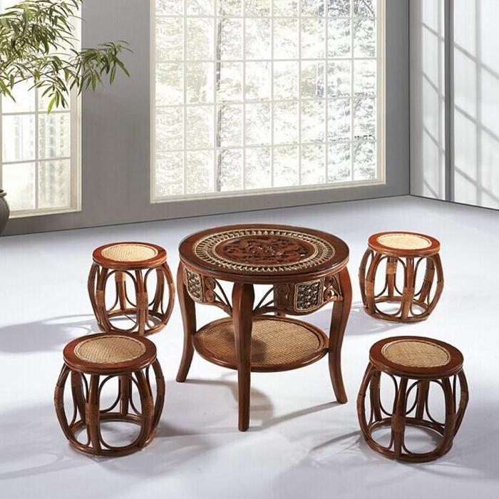 藤艺家居桌椅